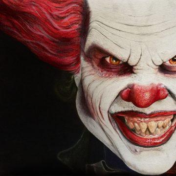 Clown met kleurpotlood by Samantha@BloodlineTattoo.nl