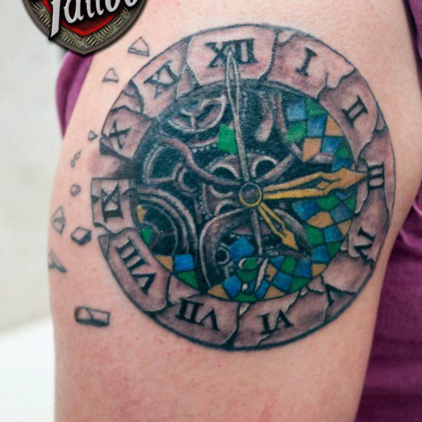 Clock Femke by Bram@bloodlineTattoo.nl