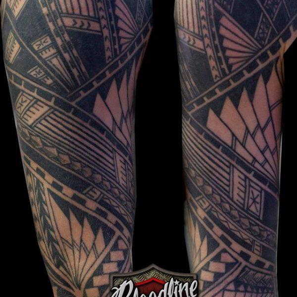 Polynesian Tattoo by Bram@bloodlineTattoo.nl