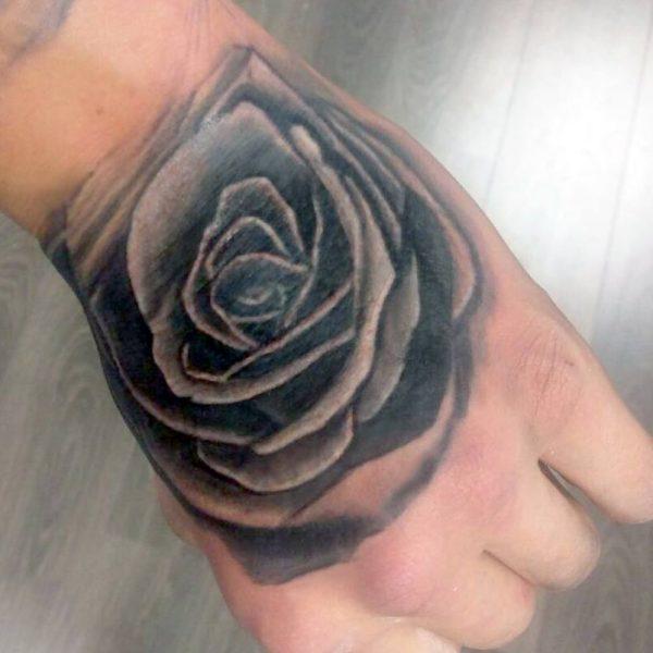 Rose hand by Bram@bloodlineTattoo.nl